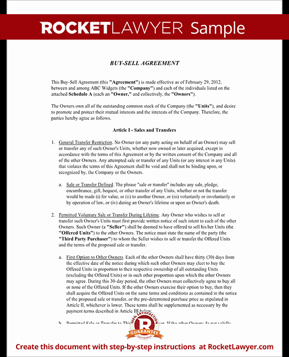 Business Partner Buyout Agreement Template New Buy Sell Agreement form Sample Buy Sell Agreement Template