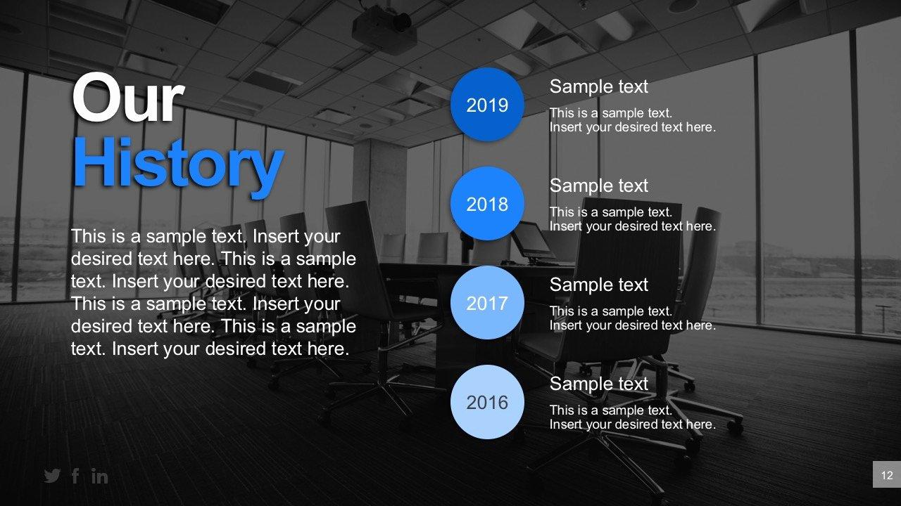 Business Plan Powerpoint Template Beautiful Business History Timeline Powerpoint Templates Slidemodel