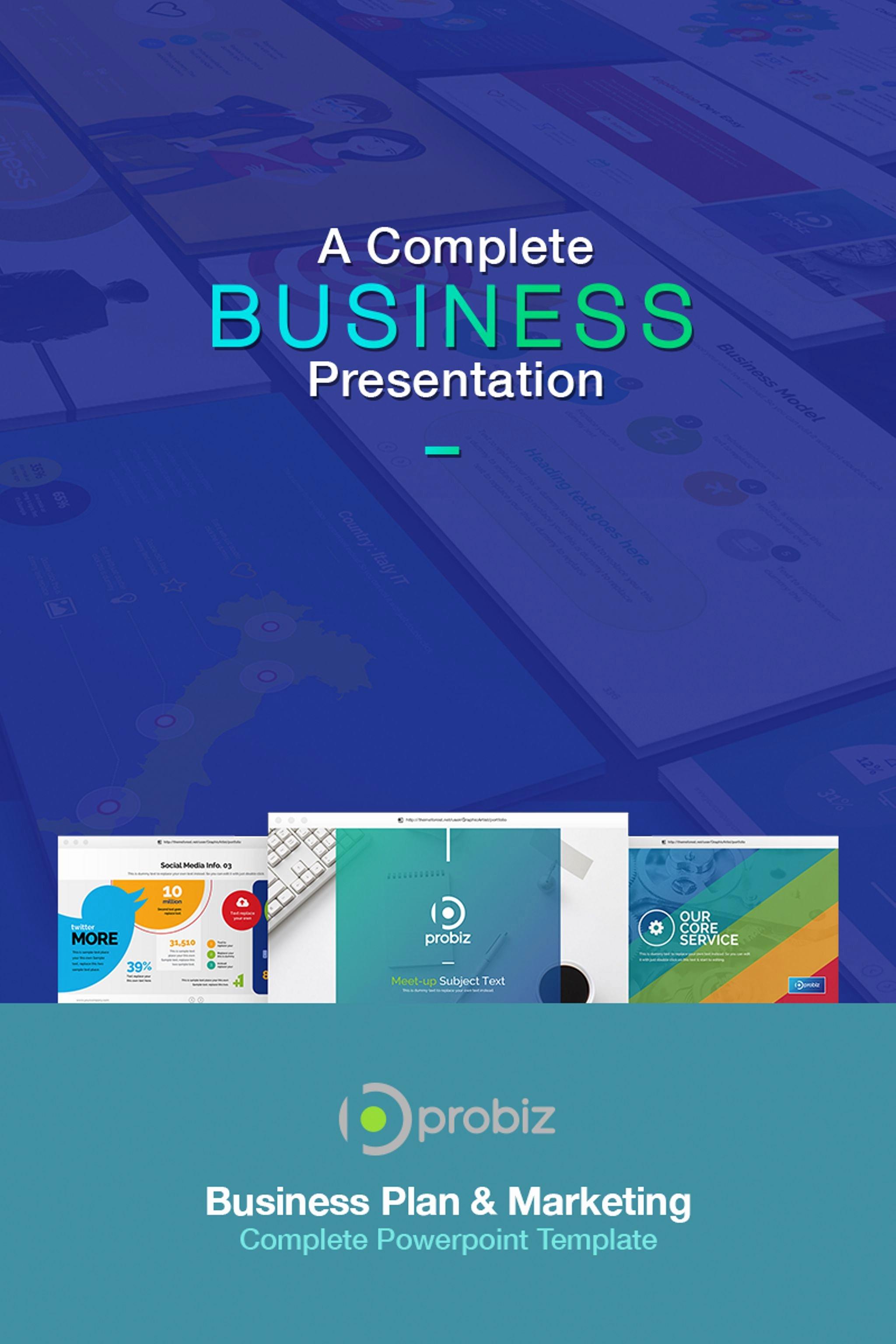 Business Plan Powerpoint Template Elegant Business Plan & Marketing Powerpoint Template
