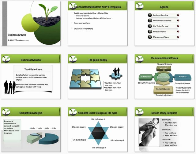 Business Plan Powerpoint Template Elegant Powerpoint Business Plan Growth Template