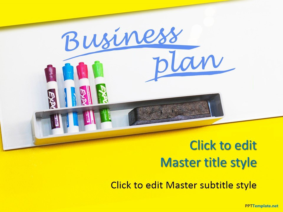Business Plan Powerpoint Template Fresh Free Business Plan Yellow Ppt Template