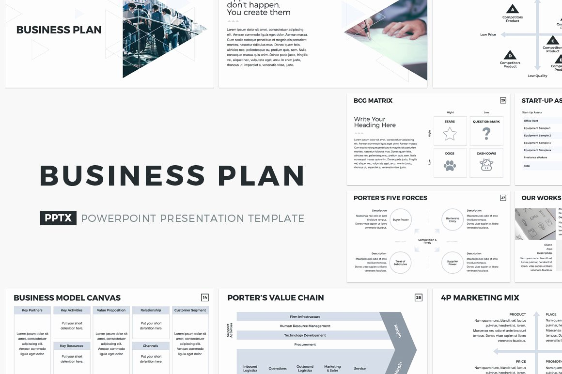 Business Plan Powerpoint Template Inspirational Business Plan Powerpoint Template Presentation Templates