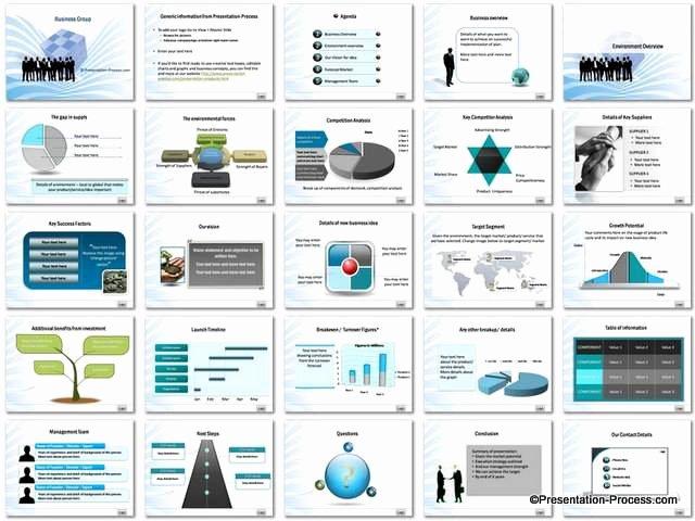 Business Plan Powerpoint Template Luxury Business Group Powerpoint Template Set