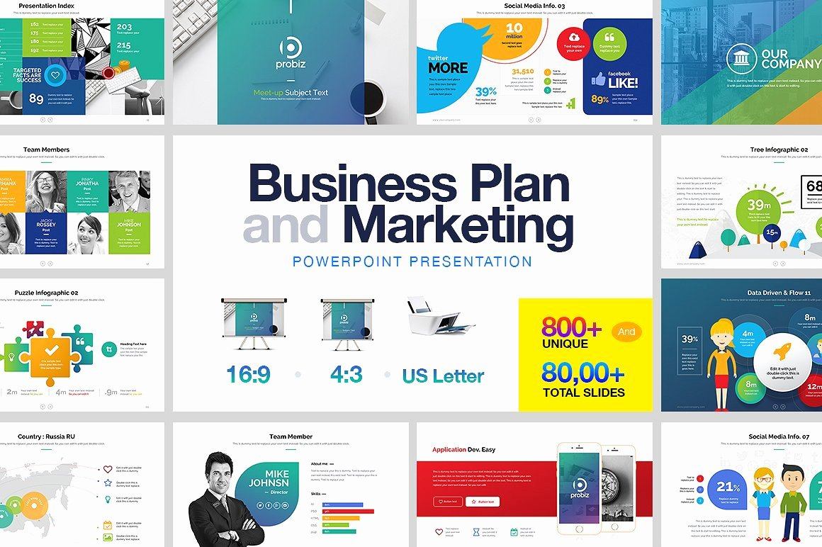 Business Plan Presentation Template Awesome Business Plan & Marketing Powerpoint Presentation