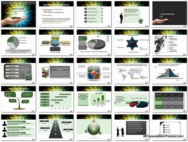 Business Plan Presentation Template Elegant Business Idea Potential Powerpoint Template Set
