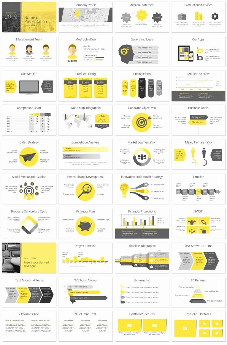 Business Plan Presentation Template Elegant Modern Business Plan Powerpoint Template