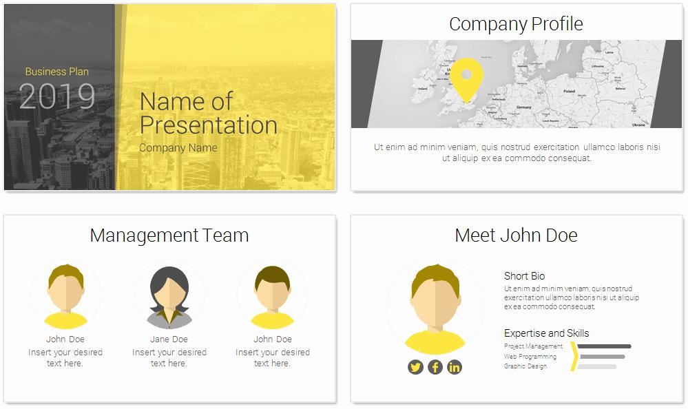 Business Plan Presentation Template New Modern Business Plan Powerpoint Template