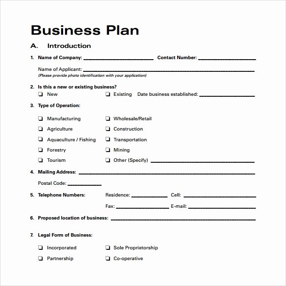 Business Plan Template Doc Elegant Bussines Plan Template 17 Download Free Documents In