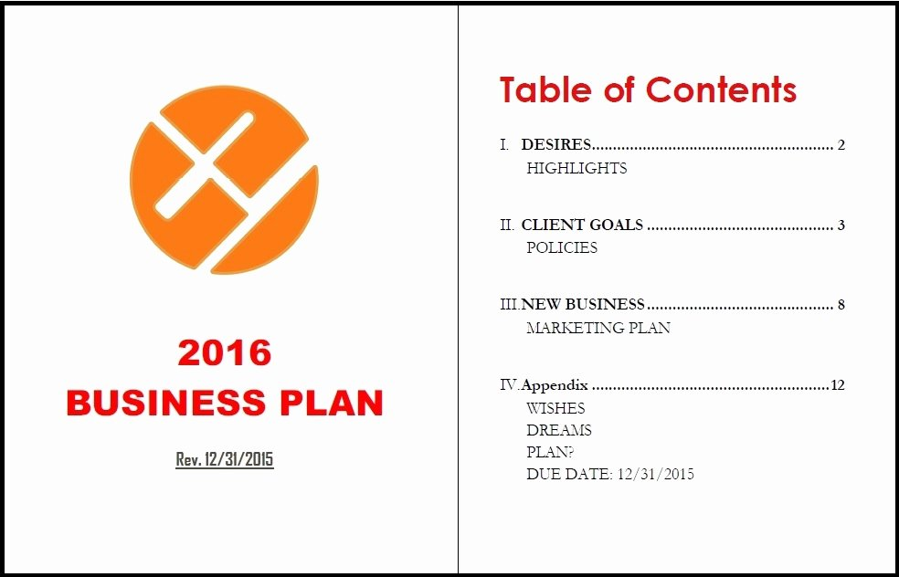 Business Plan Template Doc Elegant Make Your Business Plan A Living Document Insurancenewsnet
