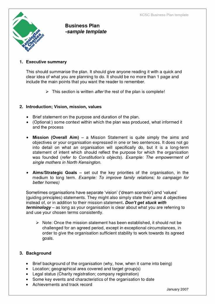 Business Plan Template Doc New Printable Word Doc Business Plan Sample
