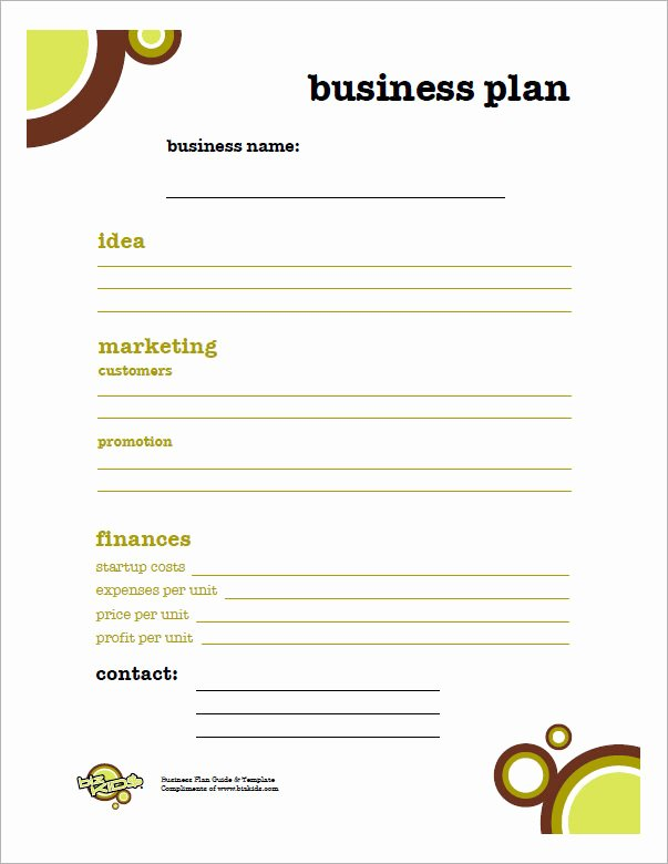 Business Plan Template for Kids Luxury Business Plan Template 32 Download Free Documents In