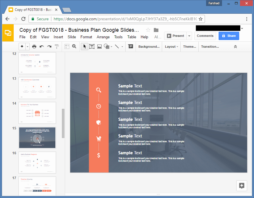 Business Plan Template Google Docs Awesome Free Business Plan Template for Google Slides