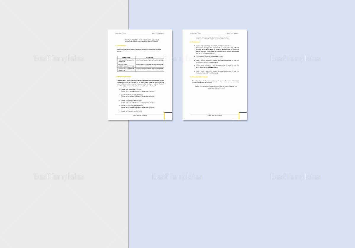 Business Plan Template Google Docs Elegant Business Development Plan Template In Word Google Docs