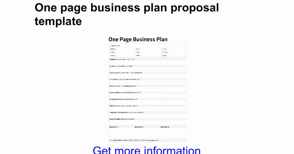 Business Plan Template Google Docs Fresh Google Docs Proposal Template or E Page Business Plan