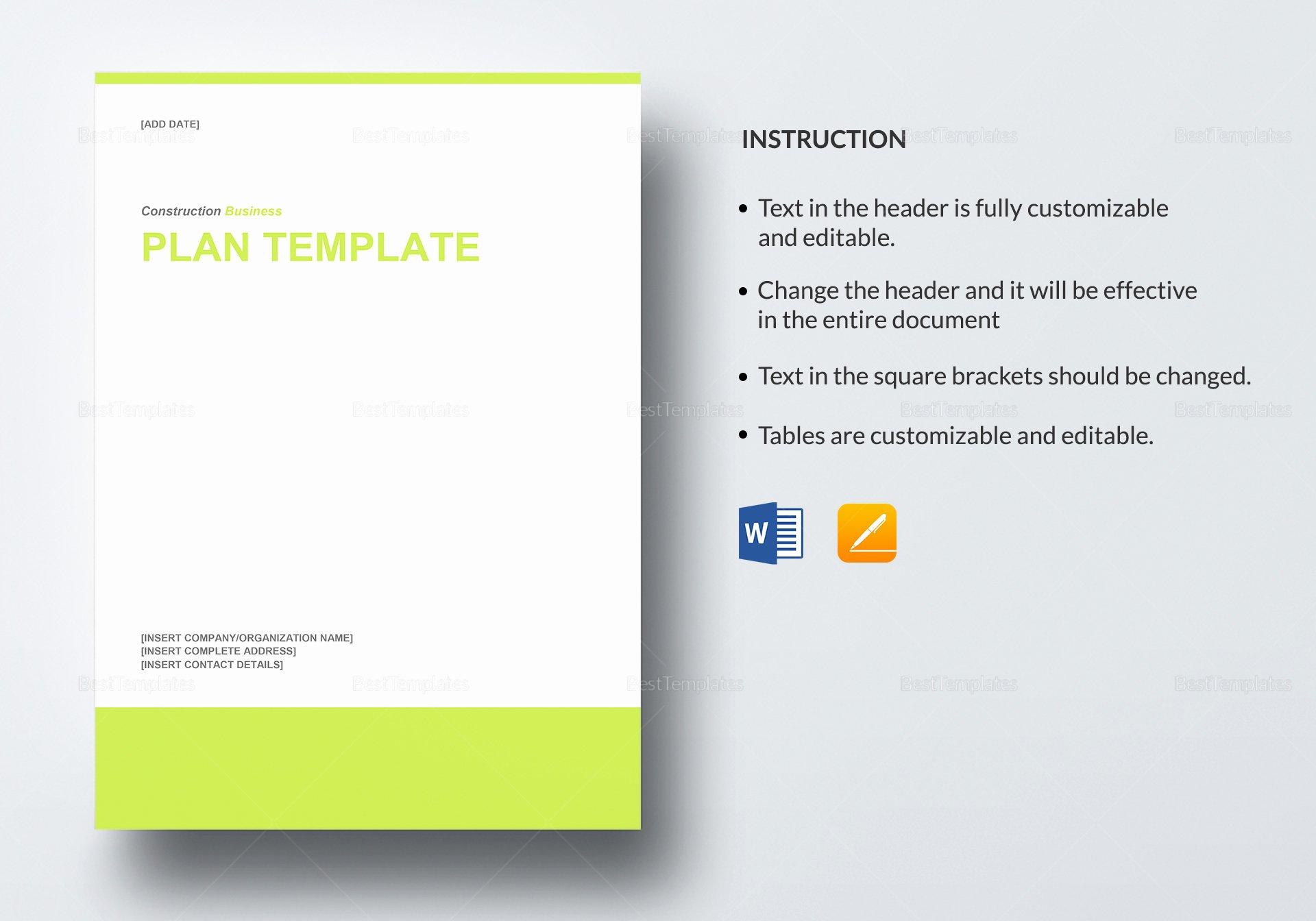 Business Plan Template Google Docs New Construction Business Plan Template In Word Google Docs