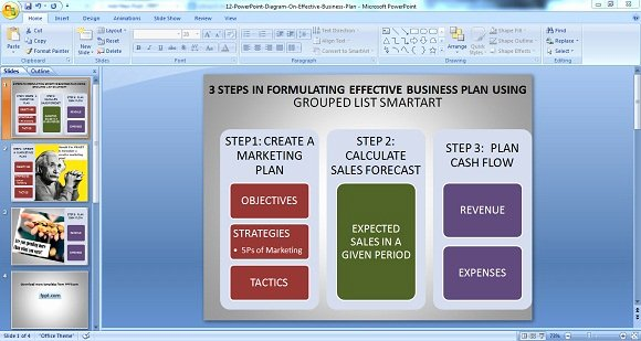 Business Plan Template Powerpoint Inspirational Using Powerpoint Diagrams for Making Effective Business Plans
