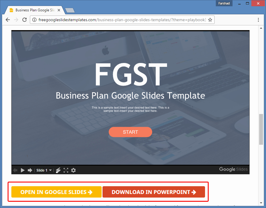 Business Plan Template Powerpoint Lovely Free Business Plan Template for Google Slides