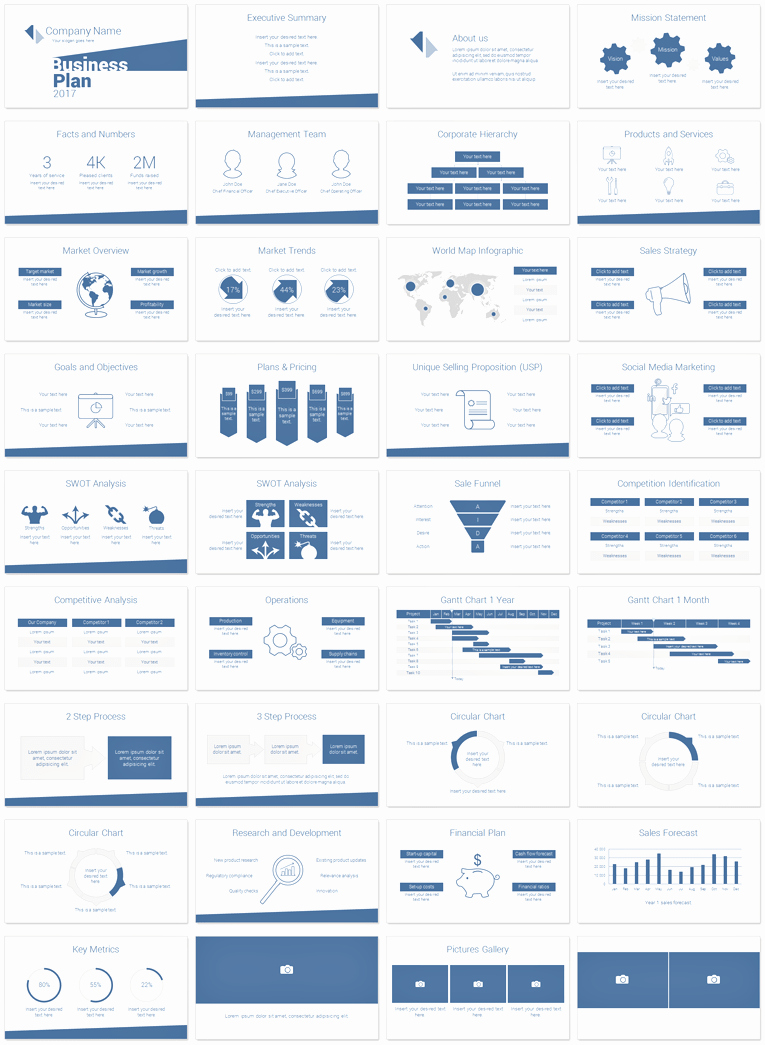 Business Plan Template Powerpoint Lovely Minimal Business Plan Powerpoint Template