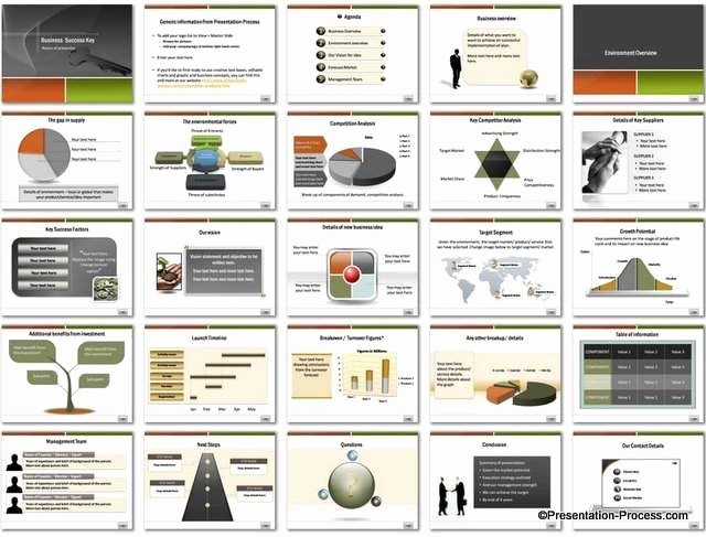 Business Plan Template Powerpoint Unique Business Success Key Powerpoint Template
