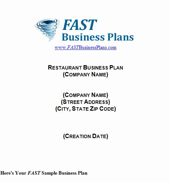 Business Plan Template Restaurant Unique 32 Free Restaurant Business Plan Templates In Word Excel Pdf
