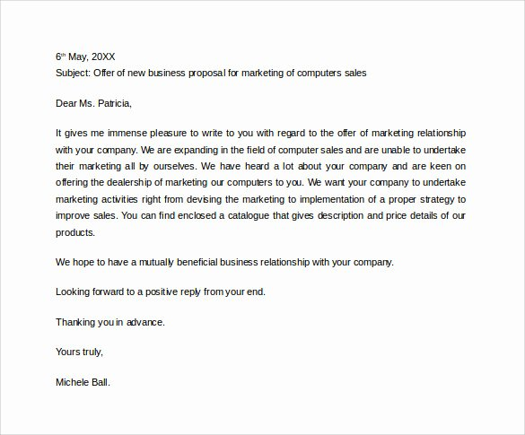 Business Proposal Letter format Best Of 38 Sample Business Proposal Letters Pdf Doc