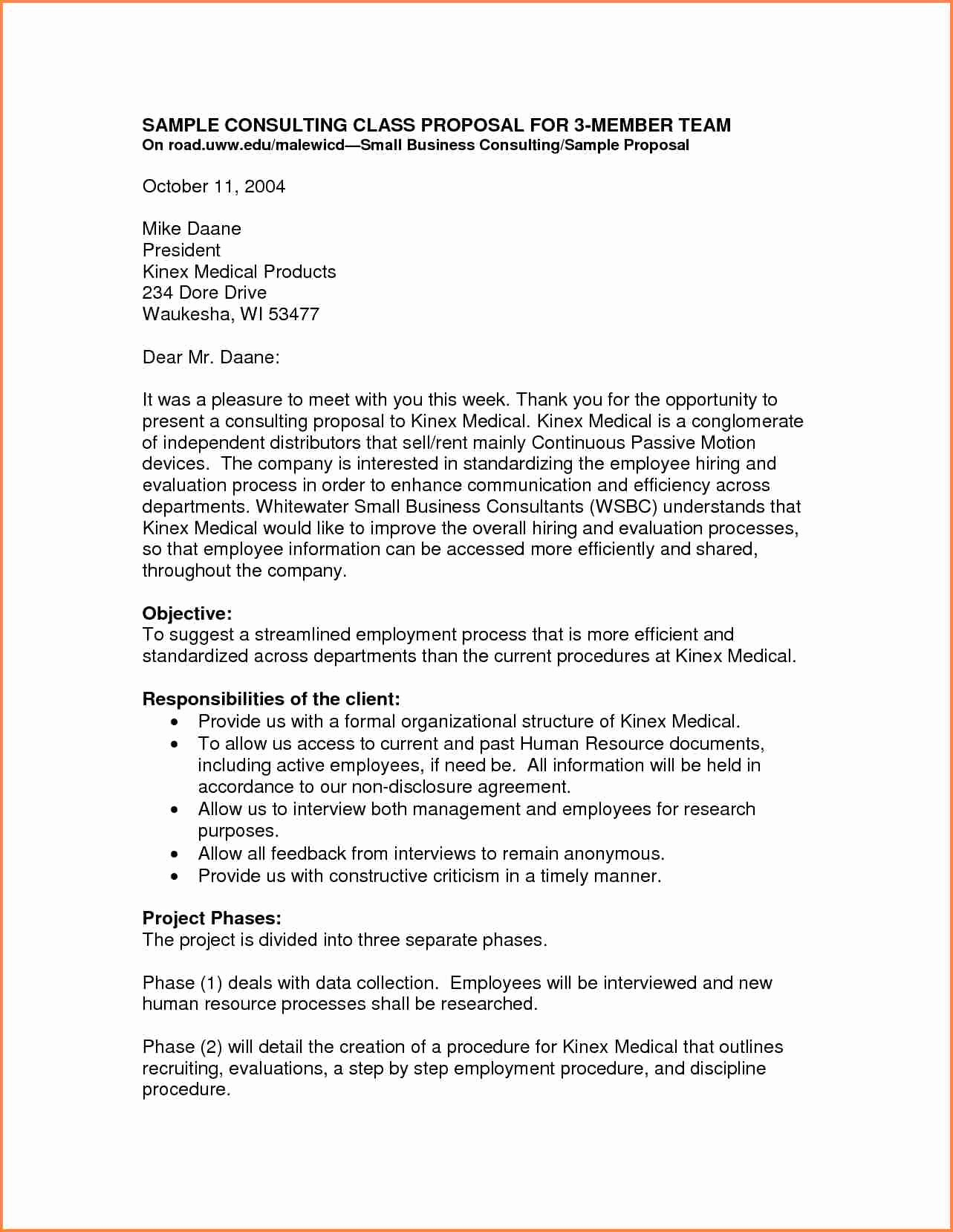 Business Proposal Letter format Lovely 3 Small Business Proposal Letter