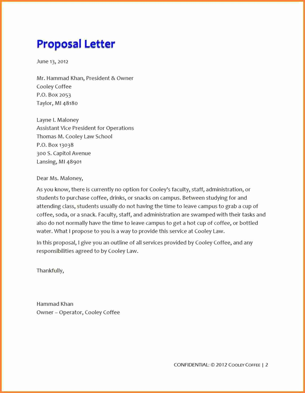 Business Proposal Letter format New 5 Business Proposal for Restaurant