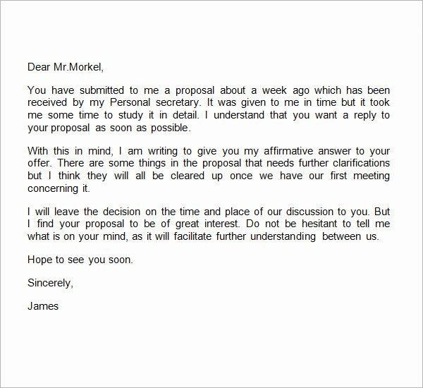 Business Proposal Letter format Unique 38 Sample Business Proposal Letters Pdf Doc