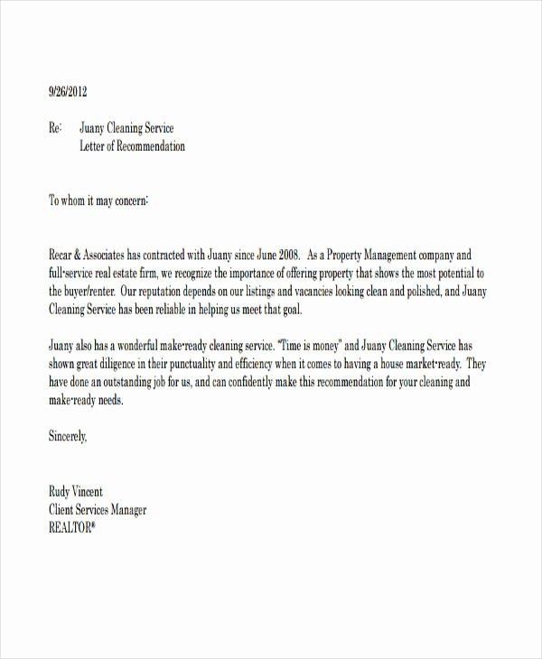 Business Recommendation Letter Sample Elegant 89 Re Mendation Letter Examples & Samples Doc Pdf
