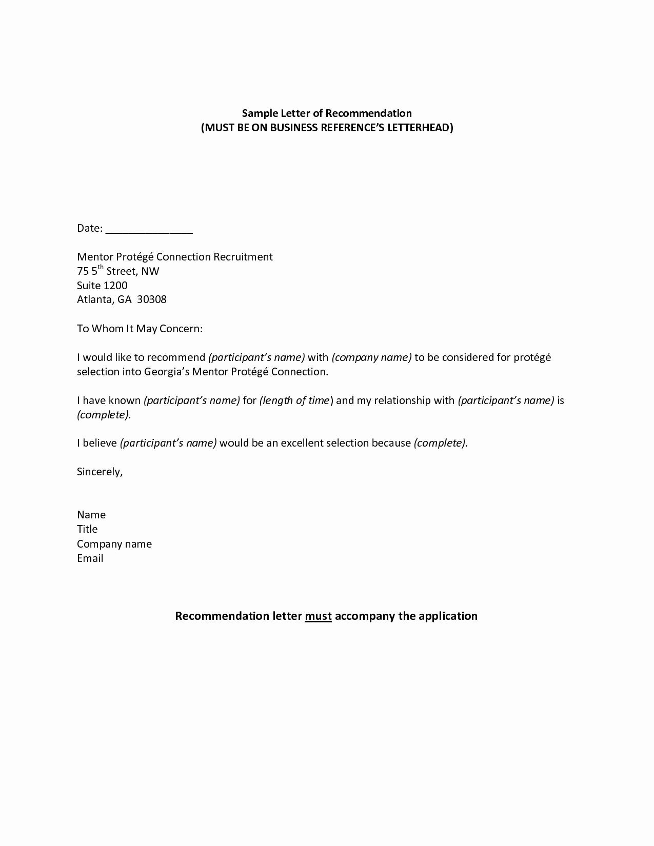 Business Recommendation Letter Template Best Of Professional Reference Sample Re Mendation Letter Jos