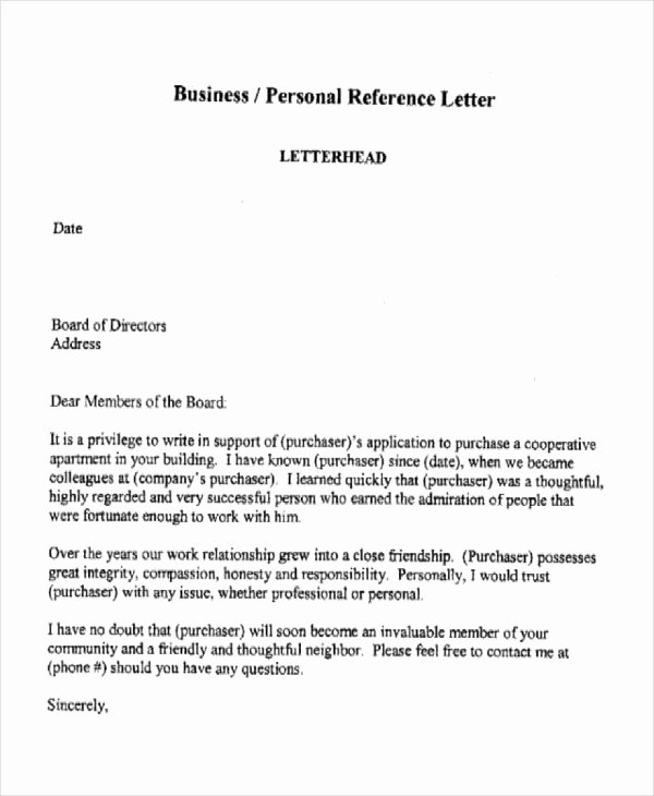 Business Recommendation Letter Template Inspirational Business Reference Letter Templates Free Sample Example