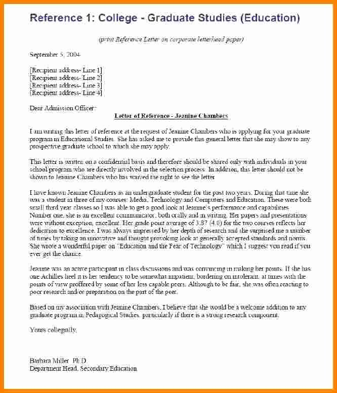 Business School Recommendation Letter Sample Inspirational 7 College Re Mendation Letter Examples