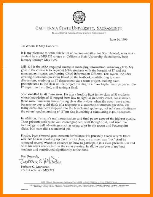 Business School Recommendation Letter Sample Lovely 7 Harvard Business School Letter Of Re Mendation