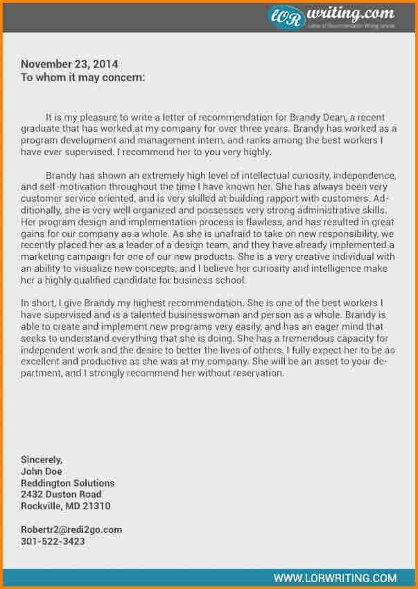 Business School Recommendation Letter Unique 6 Business School Letter Of Re Mendation Sample