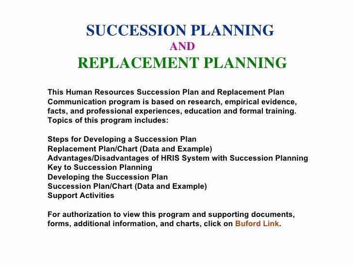 Business Succession Plan Template Beautiful Succession Planning Munication Program Sample