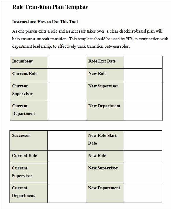 Business Transition Plan Template Beautiful 9 Transition Plan Samples