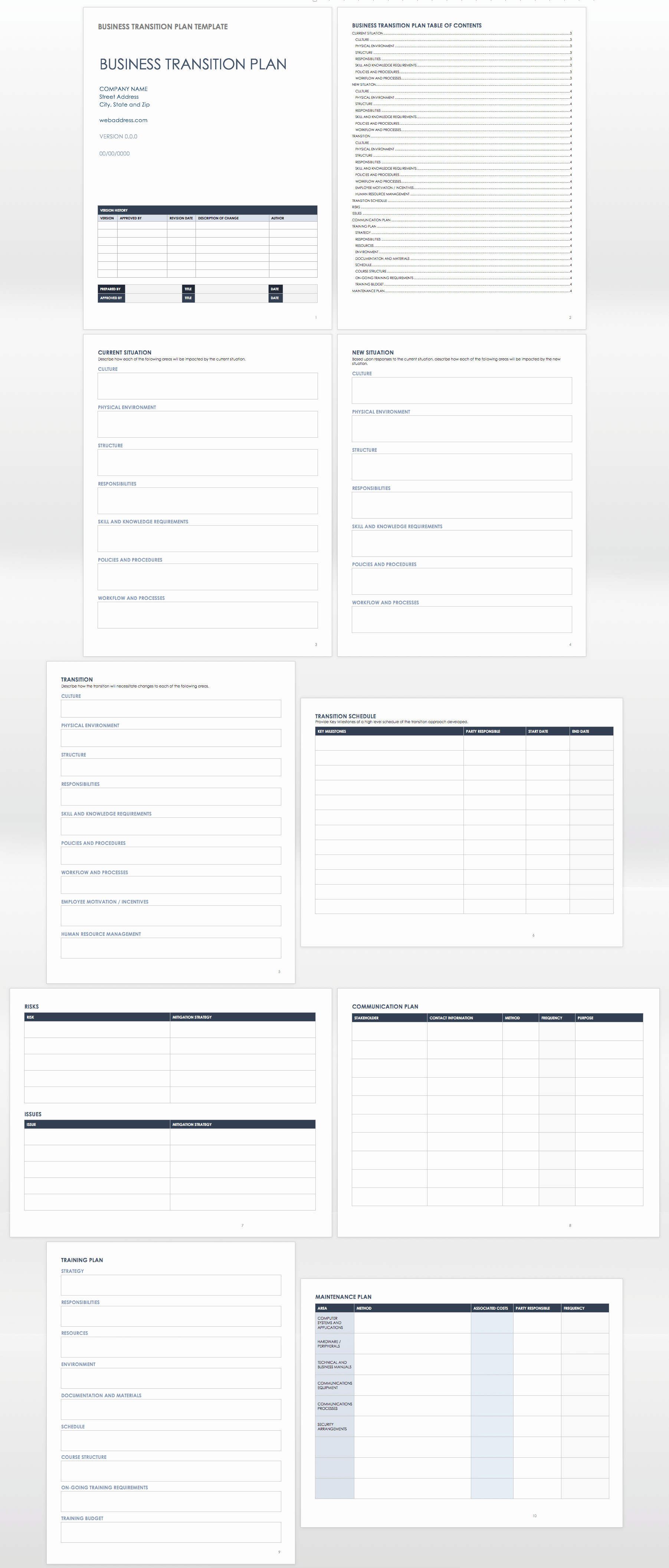 Business Transition Plan Template Beautiful Free Business Transition Plan Templates