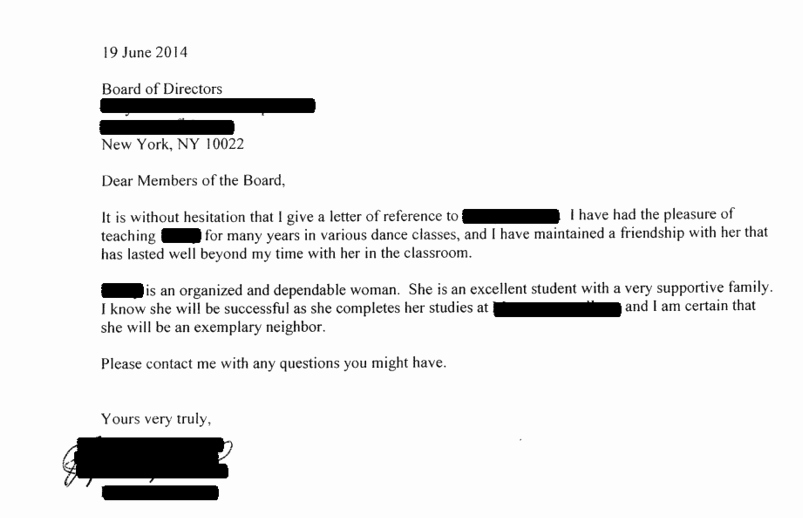 Buy Letter Of Recommendation Elegant Ace Your Co Op Board Application 14 Successful Real Life