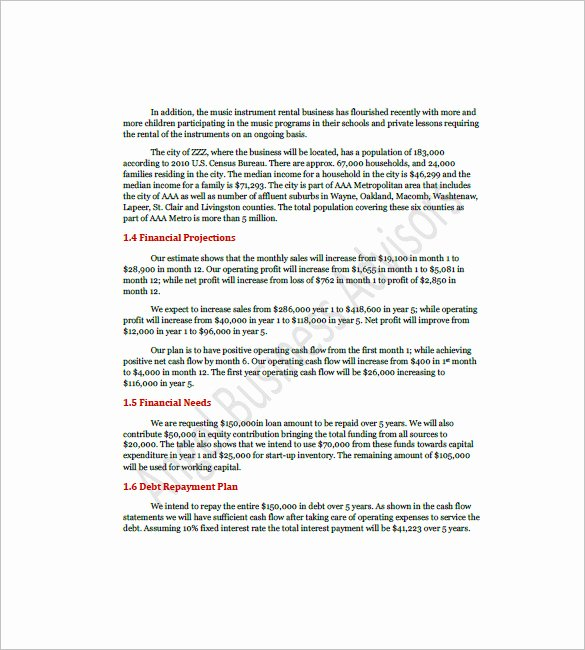 Cafe Business Plan Template Lovely Cafe Business Plan Template 14 Free Sample Example