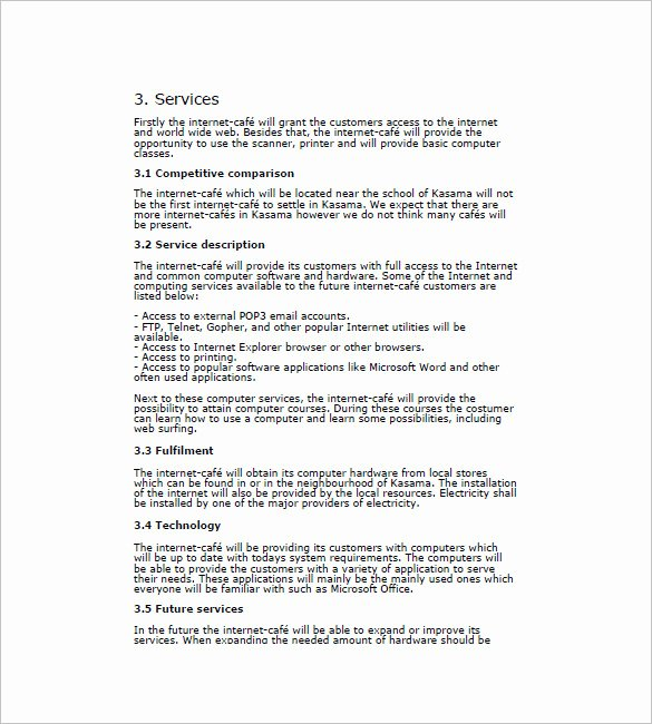 Cafe Business Plan Template New Contract Transition Plan Examples Templates Resume