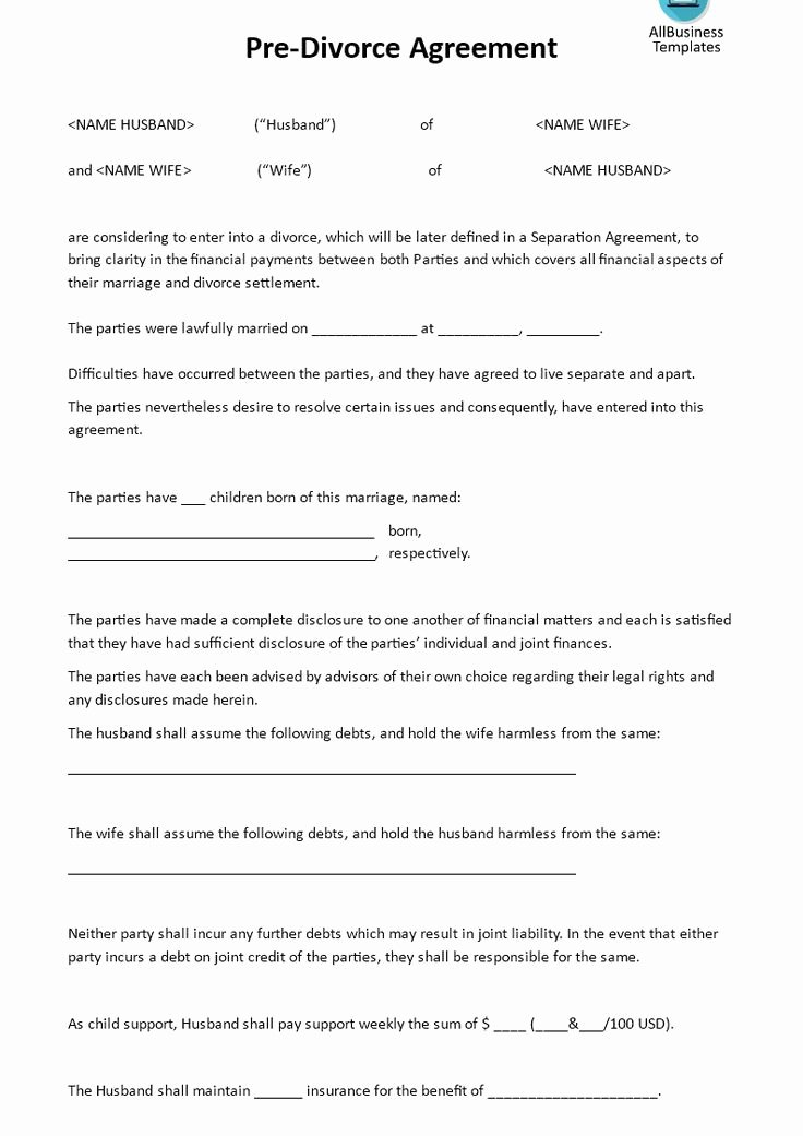 California Separation Agreement Template Unique Divorce Agreement Template Ny Templates Resume
