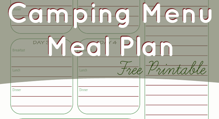 Camping Meal Plan Template Best Of Stuffed Suitcase Creating Memories Through Travel and