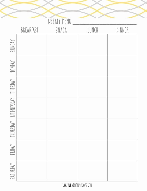 Camping Meal Plan Template New 46 Best Printable Calendars Planners & to Do Lists 2016