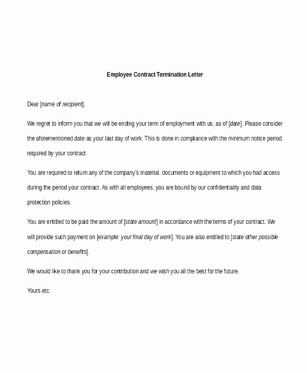 Cancel Timeshare Contract Sample Letter Inspirational Termination Letter A Service Contract Template Sample