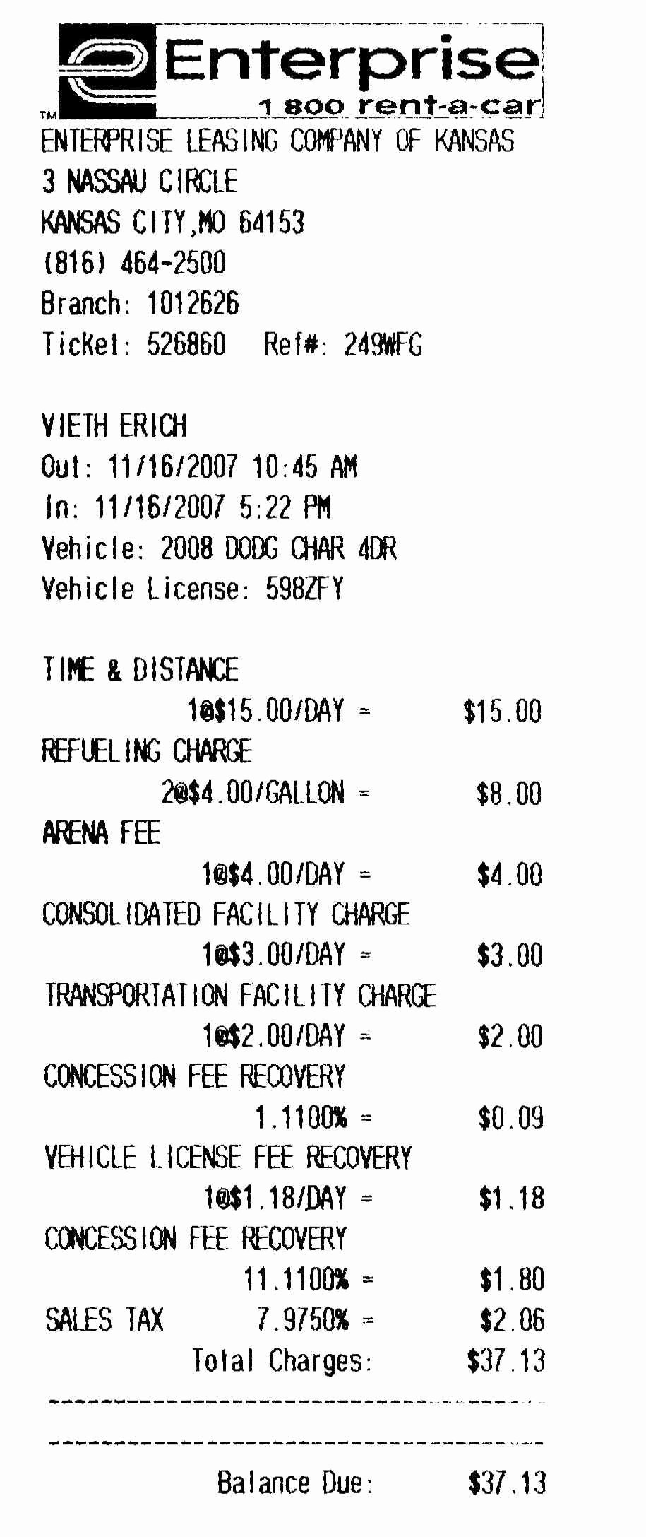 Car Rental Receipt Pdf Best Of Rental Car Cracked Windshield Enterprise G Vid