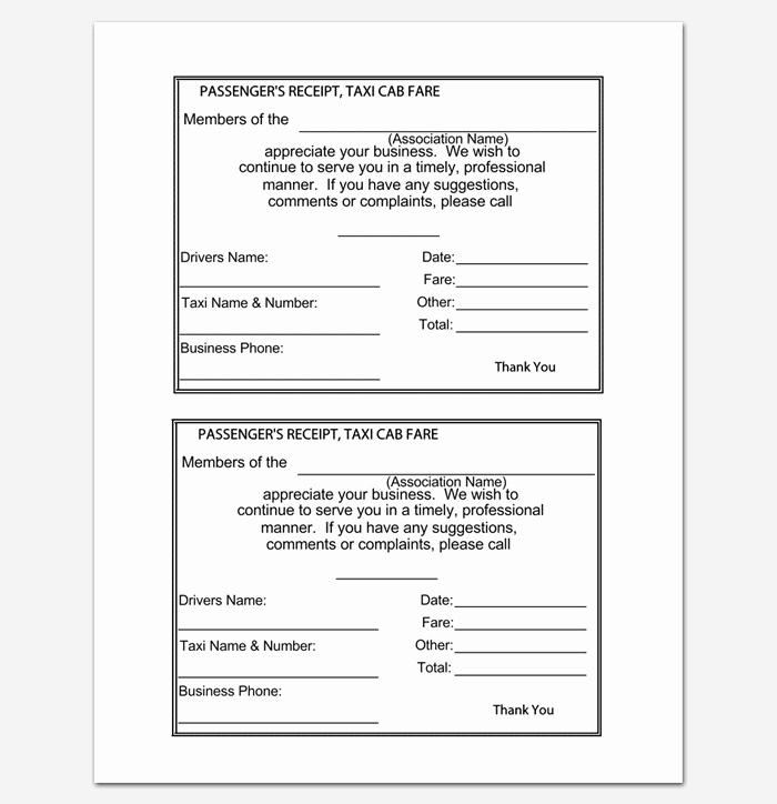 Car Rental Receipt Template Unique Rent Receipt Template 9 forms for Word Doc Pdf format