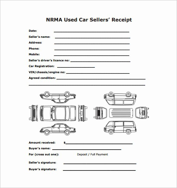 Car Sale Receipt Template Awesome Sales Receipt Template 22 Free Word Excel Pdf format