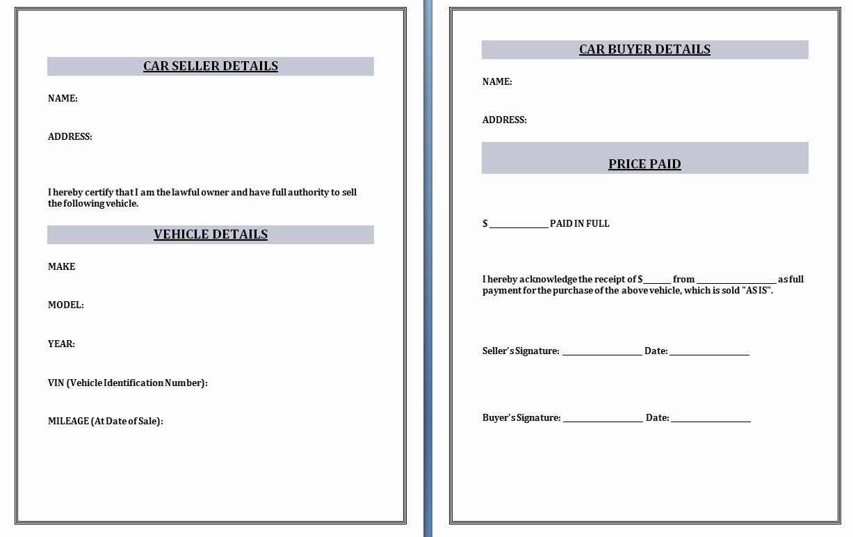 Car Sale Receipt Template Best Of Car Purchase Invoice Invoice Template Ideas