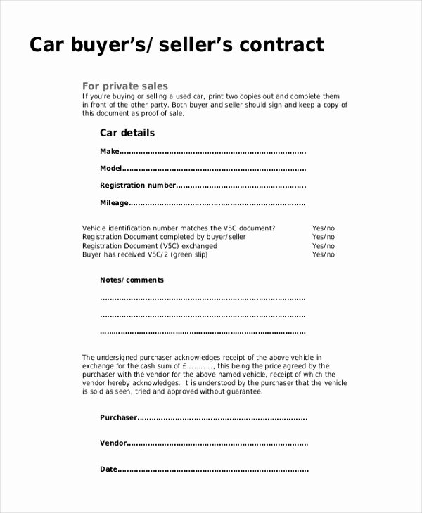 Car Sale Receipt Template Luxury Sample Sales Receipt form 9 Free Documents In Pdf