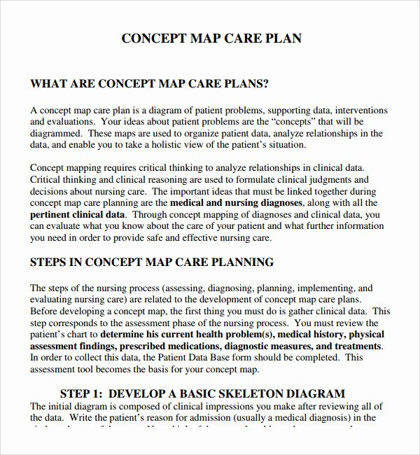 Care Plan Template Nursing Lovely 8 Nursing Care Plan Templates